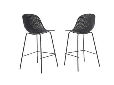 כיסאות בר רשת שחור