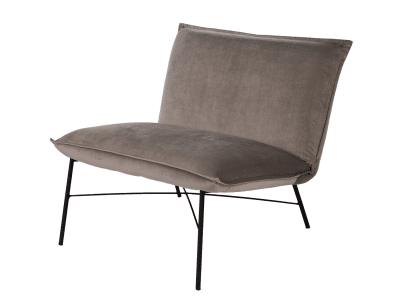 כורסא דגם CLEAN אפור בהיר קטיפה