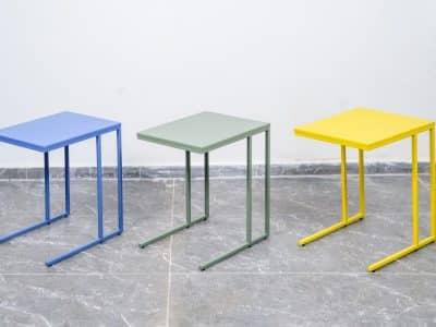 שולחן צד דגם SQUARE ירוק כהה,צהוב,כחול