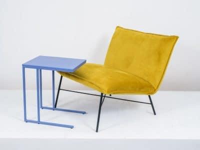 שולחן צד דגם SQUARE כחול